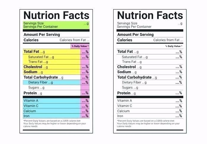 Photo of Nutrition Facts Label Template Download Unique Ingre Nts Label Template Nutritio…