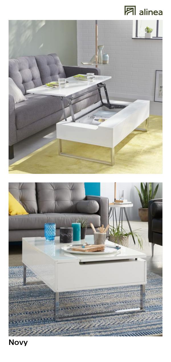 alinea novy table basse blanche avec