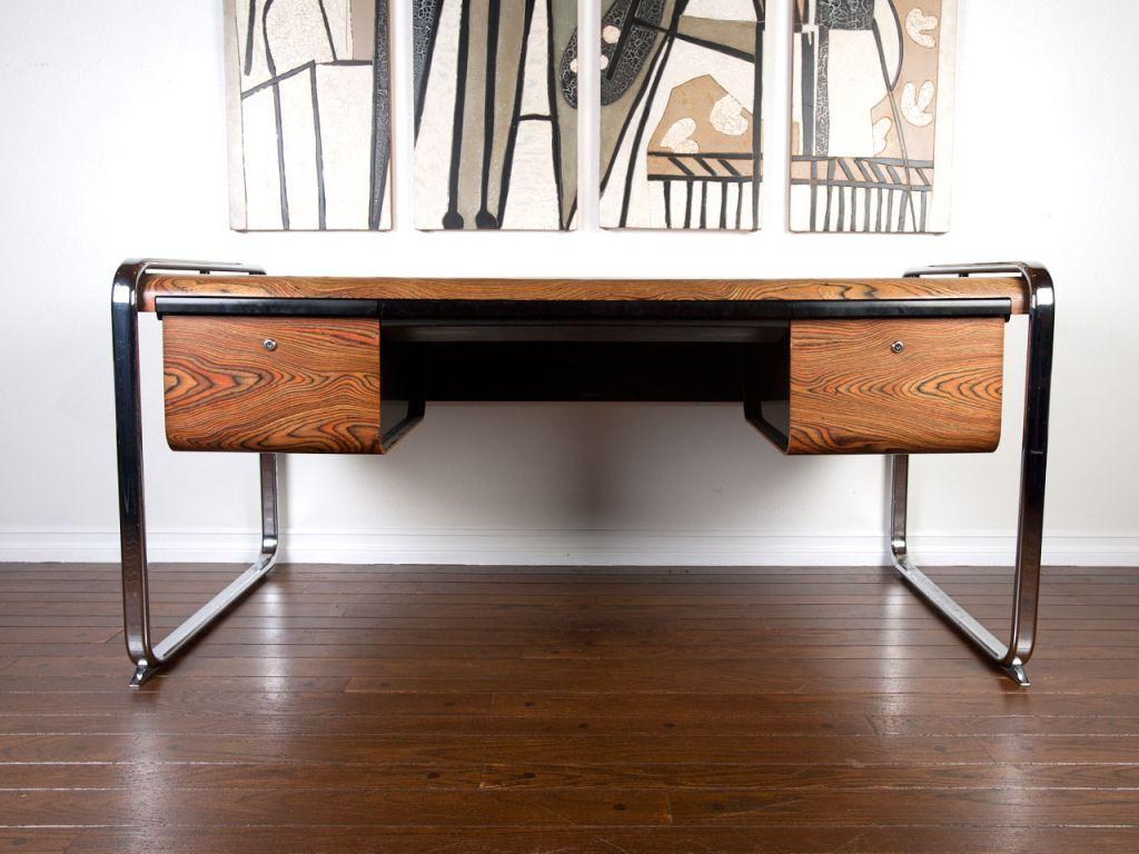 Zebra Wood Desk By Peter Protzman For Herman Miller