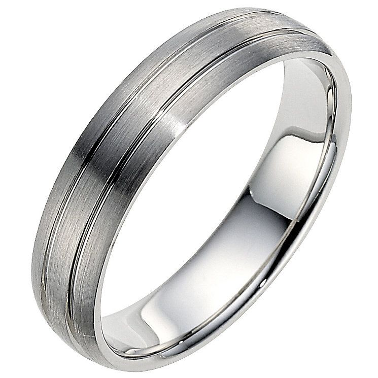 Palladium 950 5mm twin groove matt ring Product number 8606749