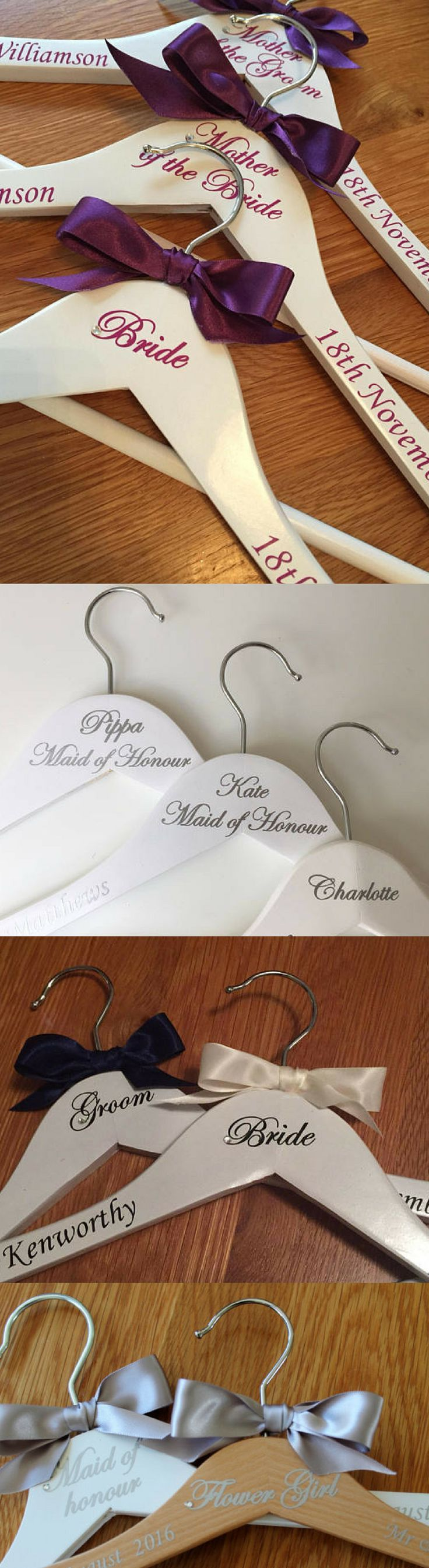 Personalised wedding bridal hanger wedding dress hanger wedding
