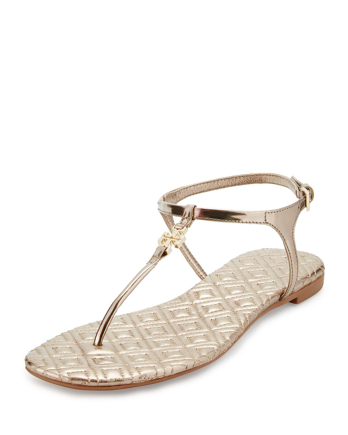 d11e6f5552b Tory Burch Marion Quilted T-Strap Sandal