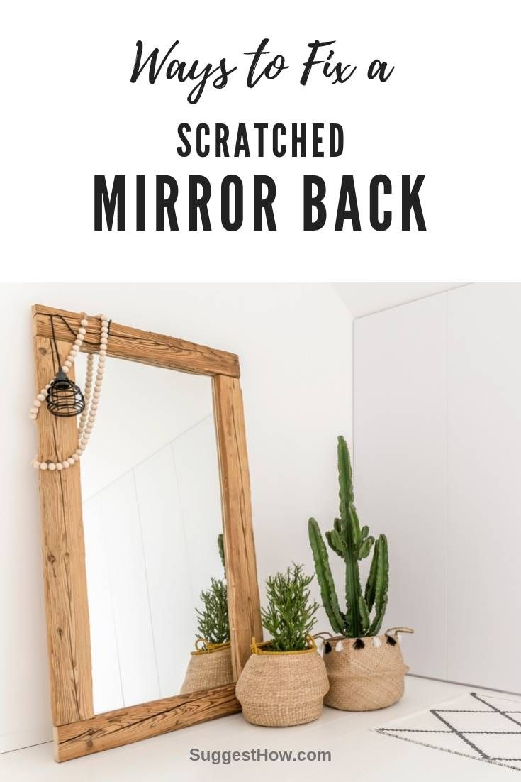 How to fix a scratched mirror back mirror restoration