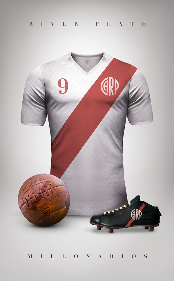 8b9fed0b48 Vintage Clubs II on Behance - Emilio Sansolini - Graphic Design Poster -  River Plate -