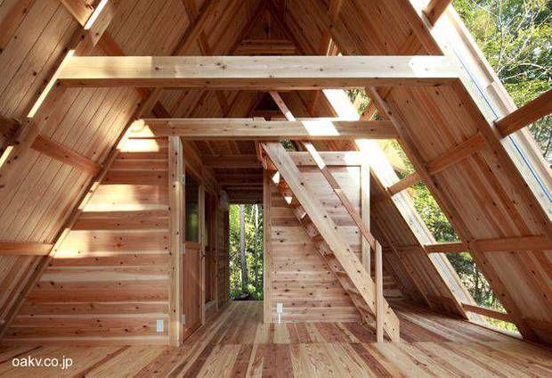 Casa alpina de madera de pino por dentro proyectos que - Casas de madera de pino ...