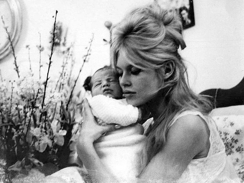 Brigitte with her baby, Nicolas.
