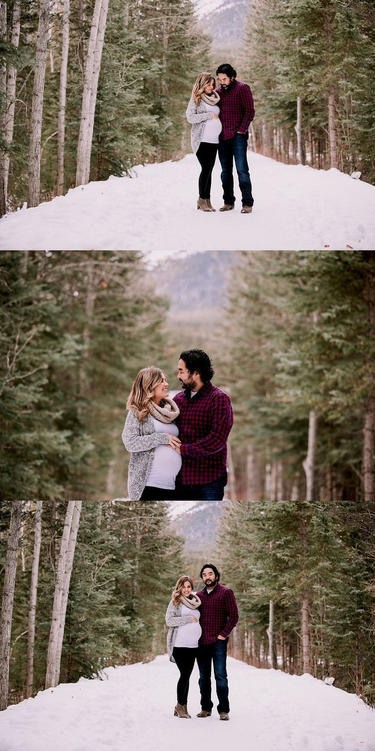 Calgary Mutterschaft Fotografen | Mutterschaft im Winter | Kanadische Rockies ...   - schwangerschaftsfotos schnee -   #