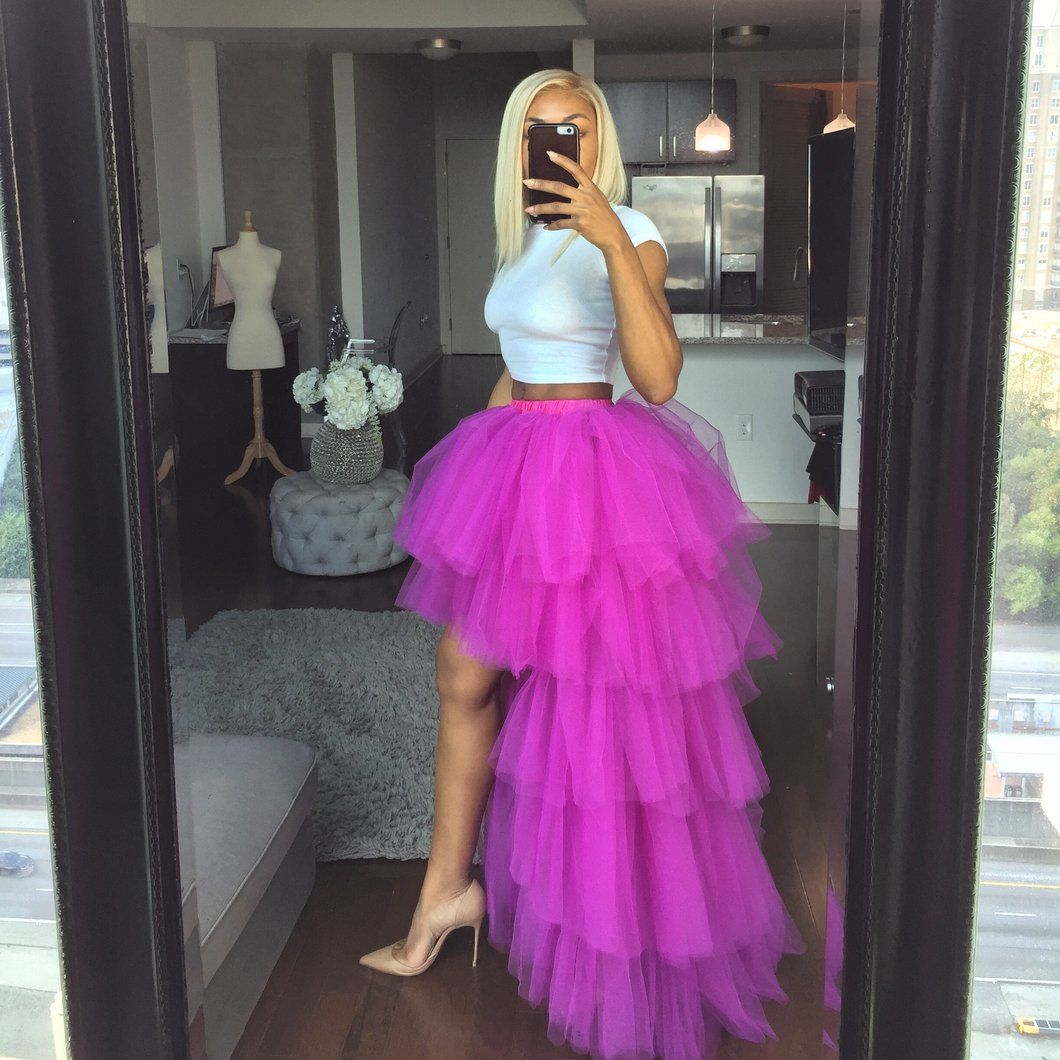 Fuchsia orchid tulle skirt in 2020 birthday outfit for