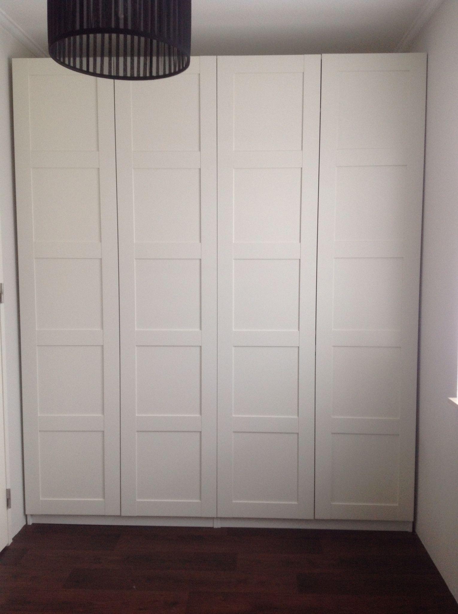Pax Wardrobe Ikea Amp Bergsbo Doors Algot In 2019 Ikea
