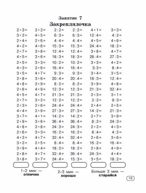 Тренажер таблица умножения нефедова креп продукт