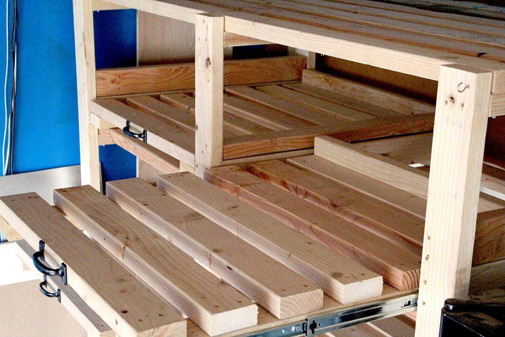 Sliding Storage Shelves How To Make Diy Garage Storage Shelves Garage Storage Shelves Diy Diy Storage Shelves Garage Storage Shelves
