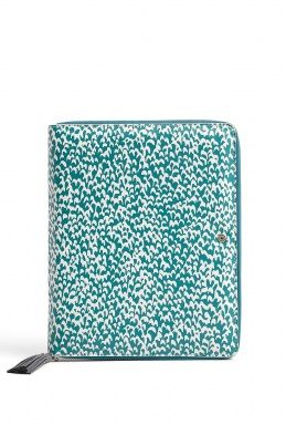 Blue Leather Vintage Print i-Pad 1 And 2 Case by Diane Von F- if only i had an ipad to put it in...