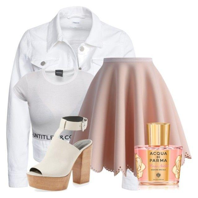 """pink perfume"" by nomiravioli ❤ liked on Polyvore featuring Filippa K, Chicwish, Acqua di Parma and Rebecca Minkoff"