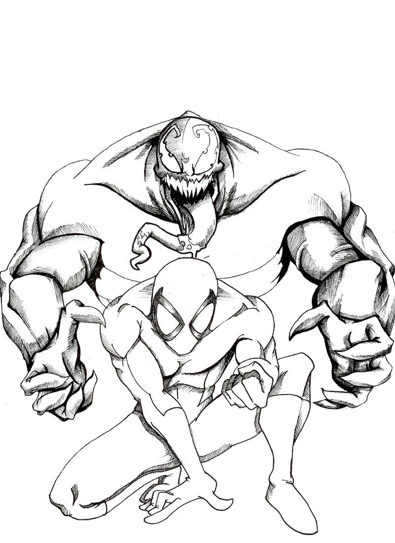 Creative Carnage Coloring Pages By Amazing Article Spiderman