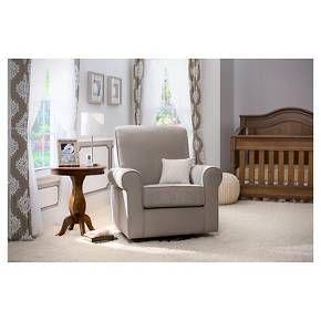 Delta Avery Nursery Glider Chair Grey Wooden Parts Children Swivel Rocker Target