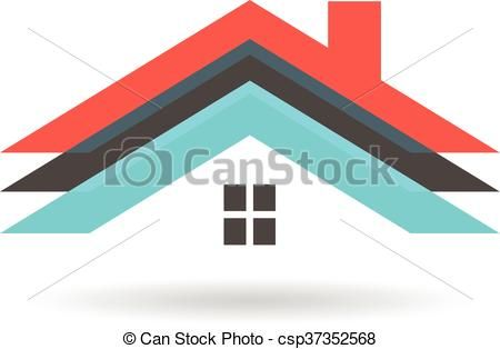 Clip Art Vector Of Roof Houses Logo Vector Graphic Design Csp37352568 Search Clipart Illustration Drawings And Eps Vector G Home Logo House Roof Roof Cost