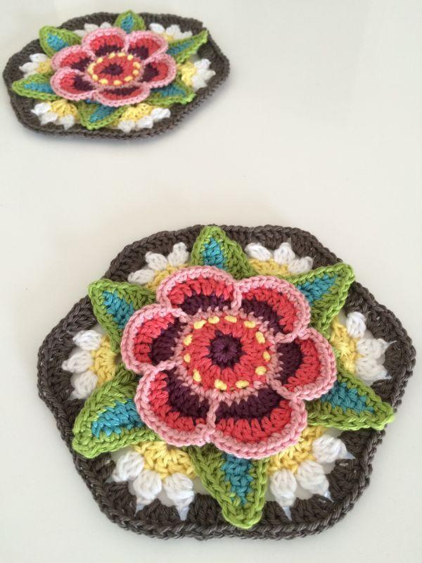 granny square häkeln anleitung (3) | crochet design and flowers ...
