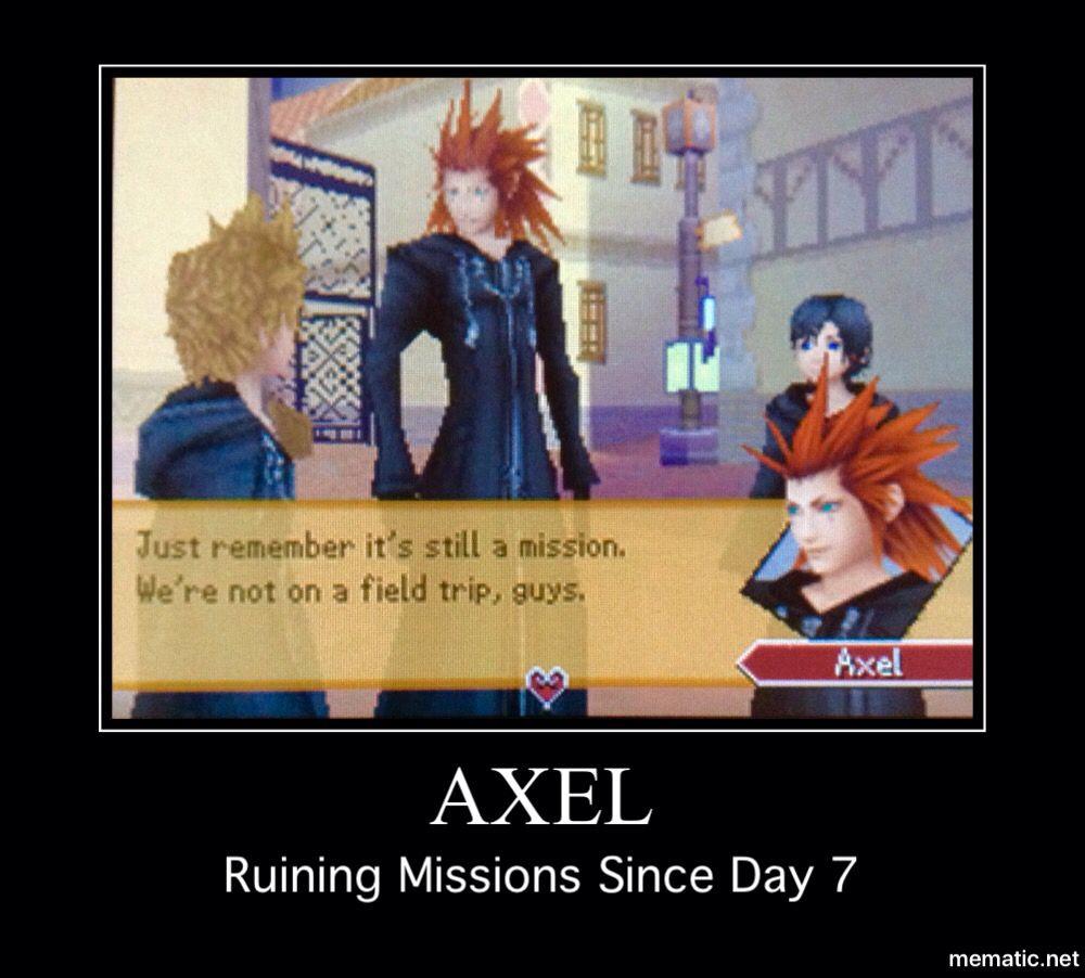 Axel Kingdom Hearts Meme Haha Kingdom Hearts Funny Axel
