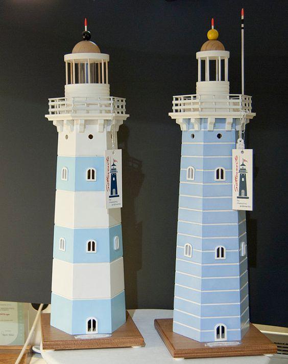Wooden Lighthouse Handmade Table Atmosphere Lamp Gift