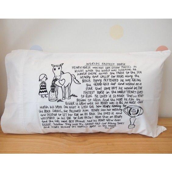 Bedtime Story Pillowcase - Henry Horse