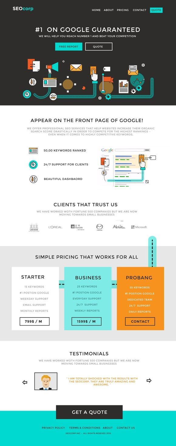 SEO Website psd template | Psd templates, Website layout and Template
