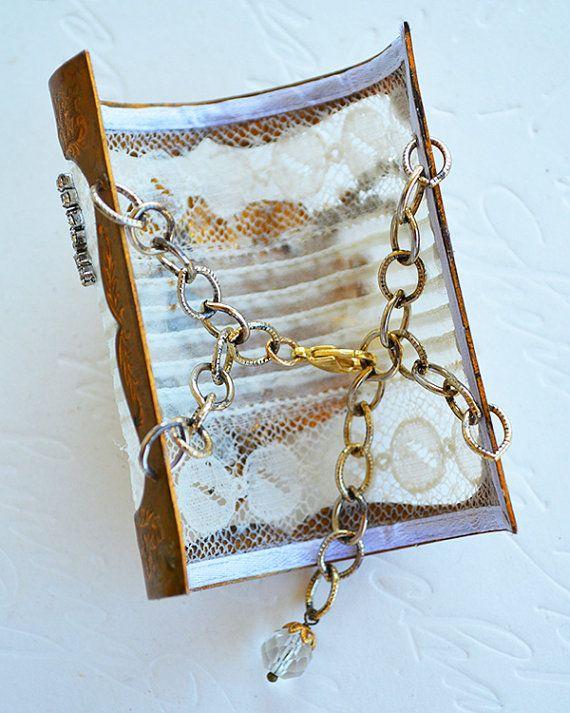 Vintage Brass Belt Buckle Antique Pleated Lace by ADORNbySamouce