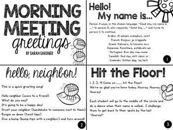 Morning meeting greetings activities 2nd grade pinterest morning meeting greeting cards freebie m4hsunfo
