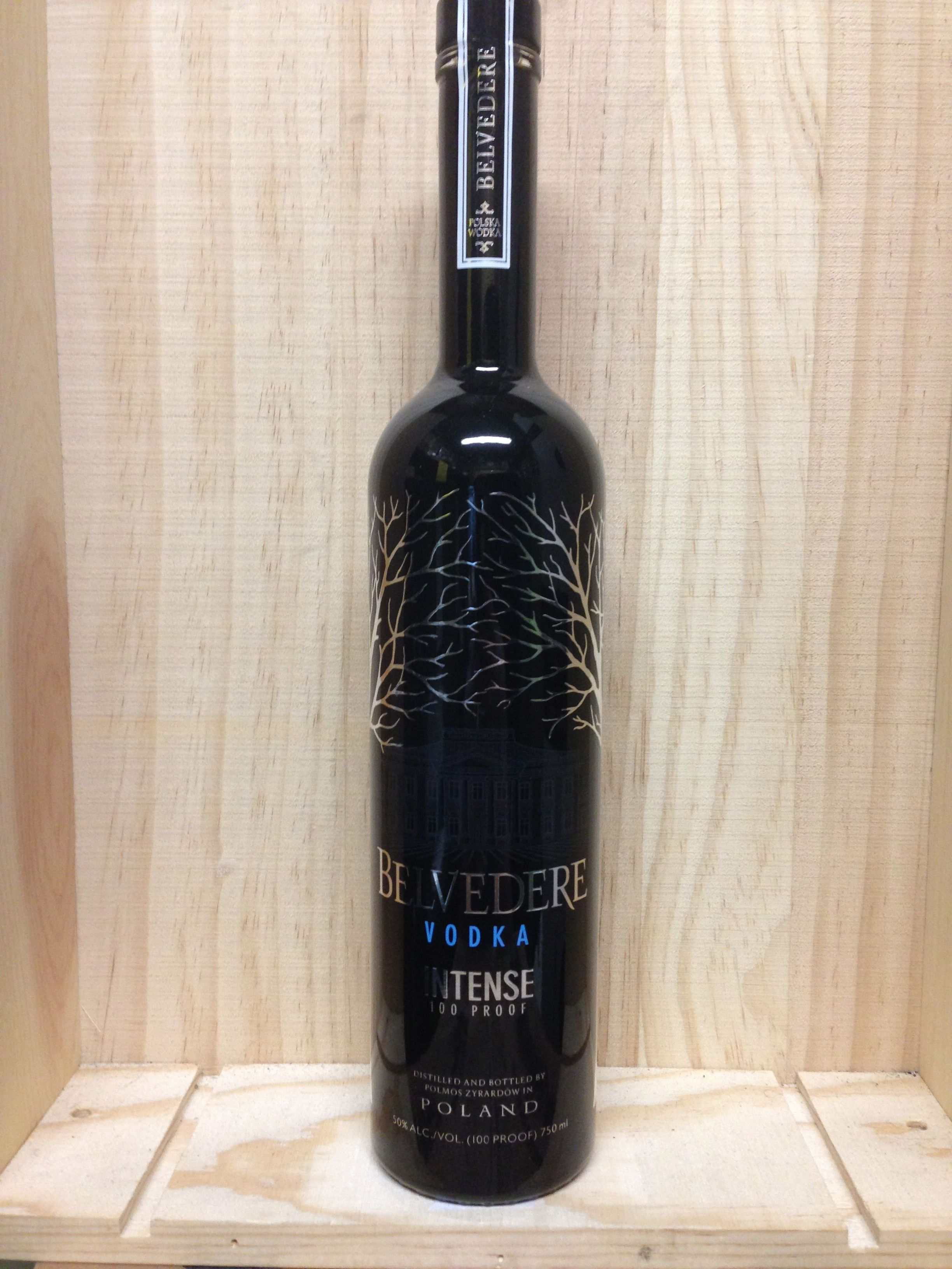 Belvedere Intense 100 Proof Vodka. Liquor