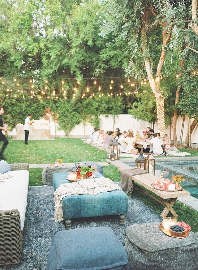 Backyard Birthday Party With Multiple Seating Areas