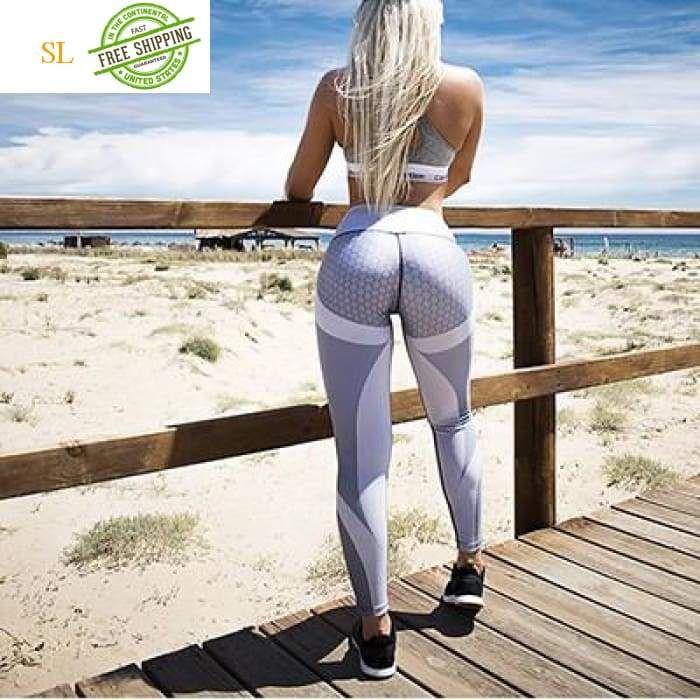 0b6c936922160f Mesh Pattern Print Leggings fitness Leggings For Women Sporting Workout  Leggins Elastic Slim Black White Pants