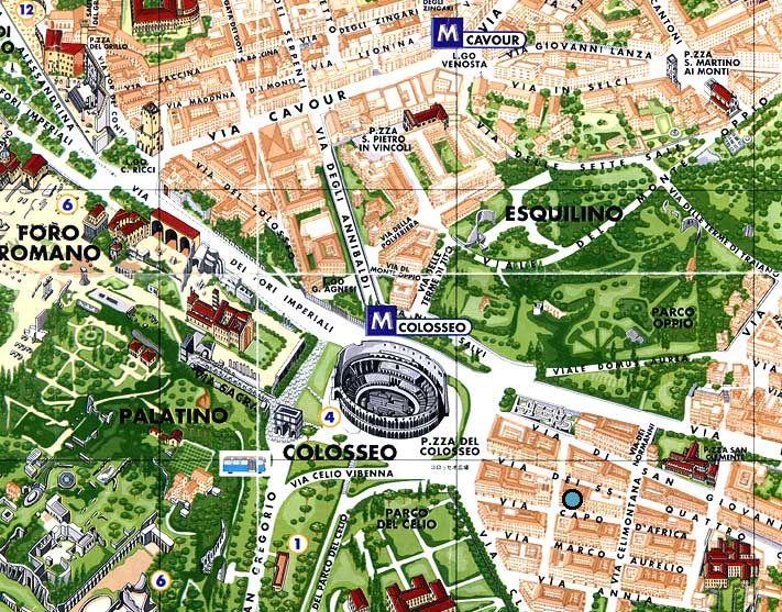 Caesars Palace Colosseum Map on