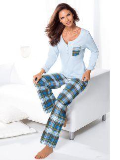 e4c2c1ba22e Pijama largo 2 piezas mujer 100% algodón cuadros