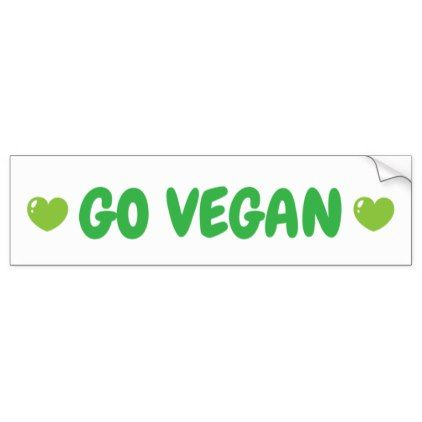 Go vegan bumper sticker diy cyo customize create your own personalize