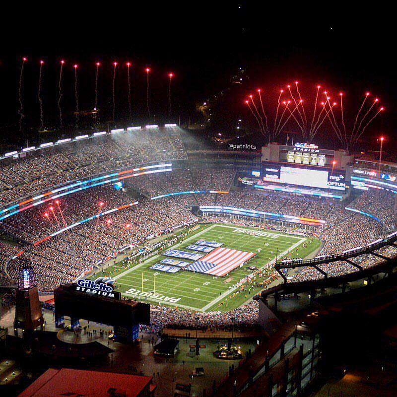 Opening Night At Gillette Stadium New England Patriots Patriots New England