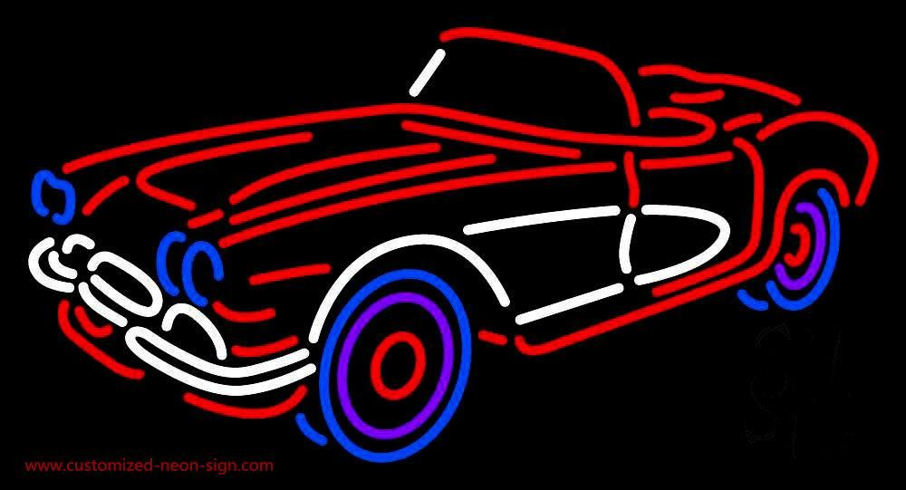 Classic Car Handmade Art Neon Sign