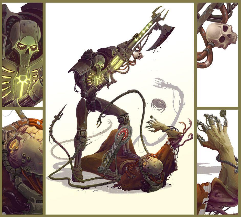 Painted 40K : Necron vs Dark Mechanicus, Painted by Nikolaus Ingeneri