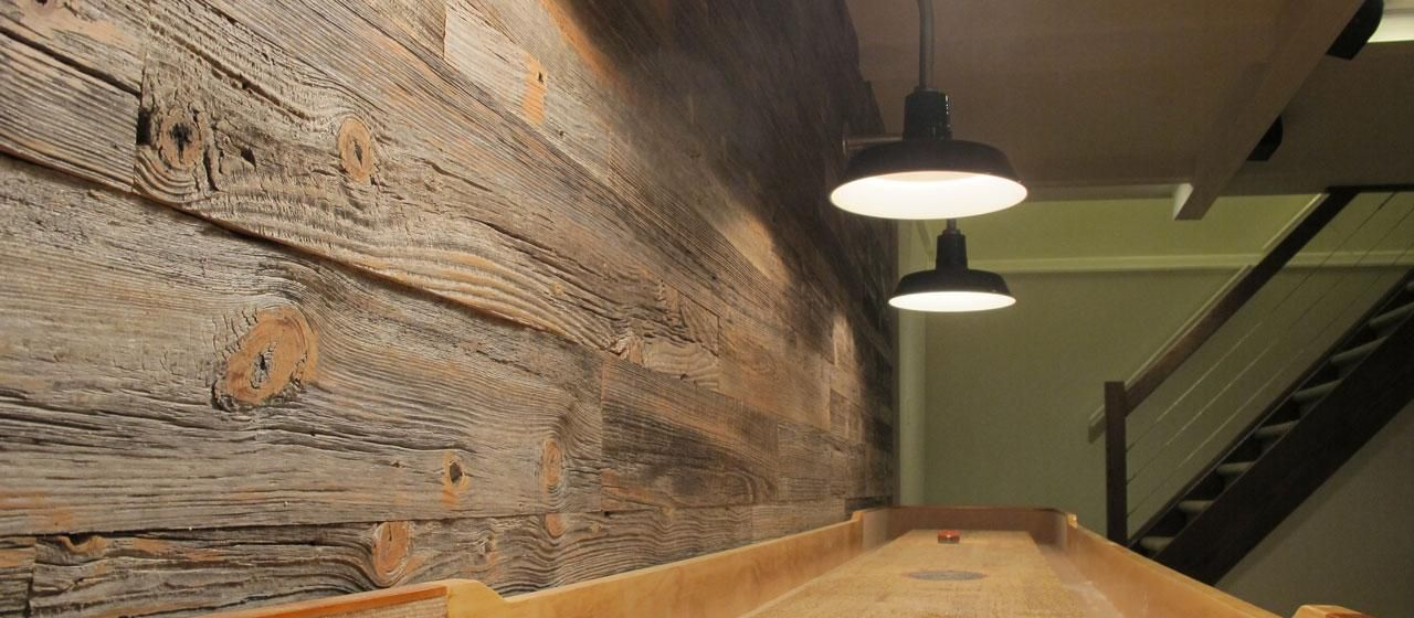 Antique Reclaimed Softwood Grey Milled Barn Wood Paneling Basement Renovation Ideas