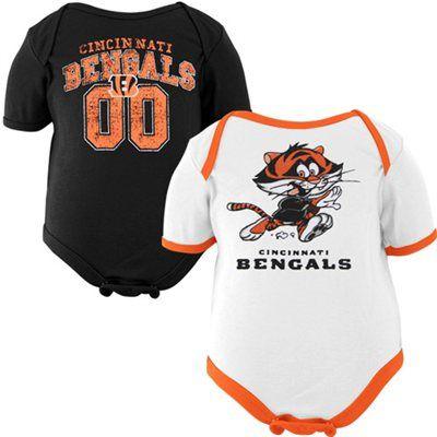 351e67e1 Gerber Cincinnati Bengals Newborn Buddies 2-Pack Onesie Set - White ...