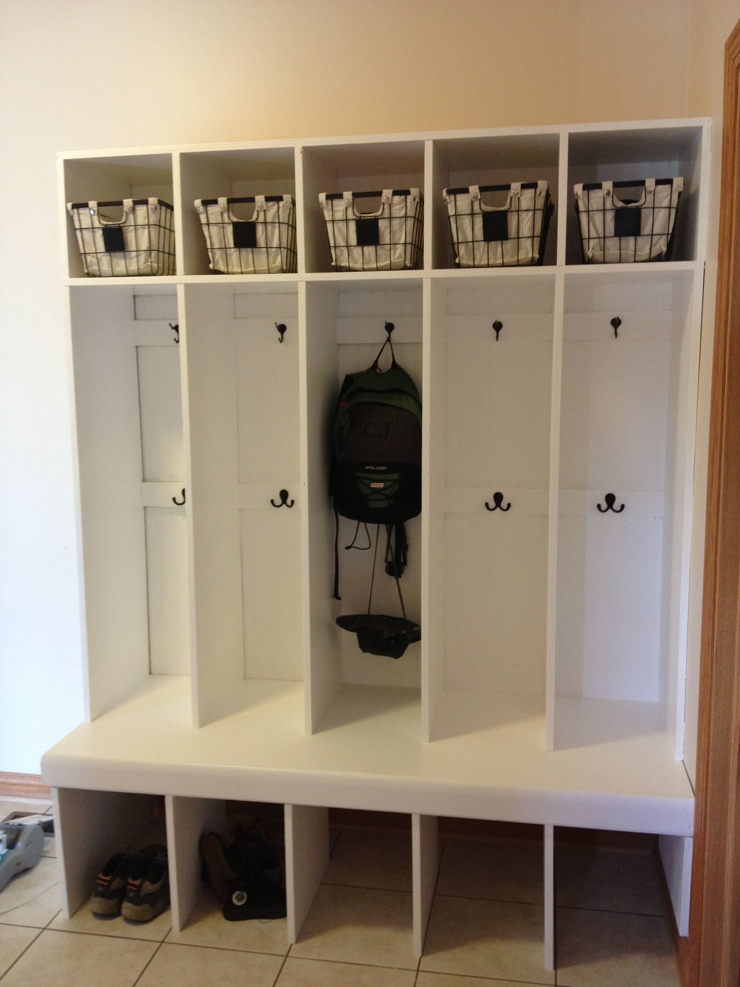 Mudroom Locker System Built In One Weekend
