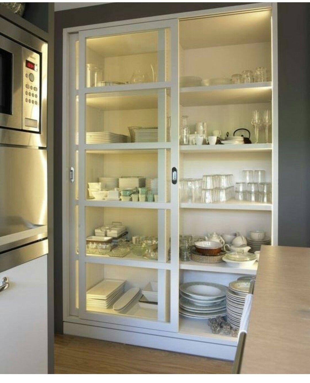Vitrina De Cocina Con Puertas Correderas Muebles Hogar Deseo  # Muebles Nestor Rodriguez