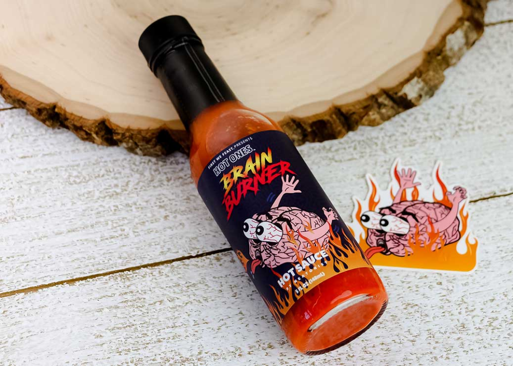 Hot Ones Brain Burner Hot Sauce Tasting Review Pepper Geek Hot Sauce Stuffed Hot Peppers Sauce