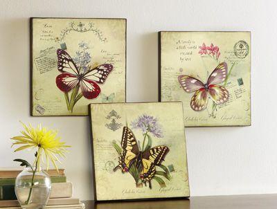 Wood Butterfly Wall Decor | lakeside.com favorites | Pinterest ...