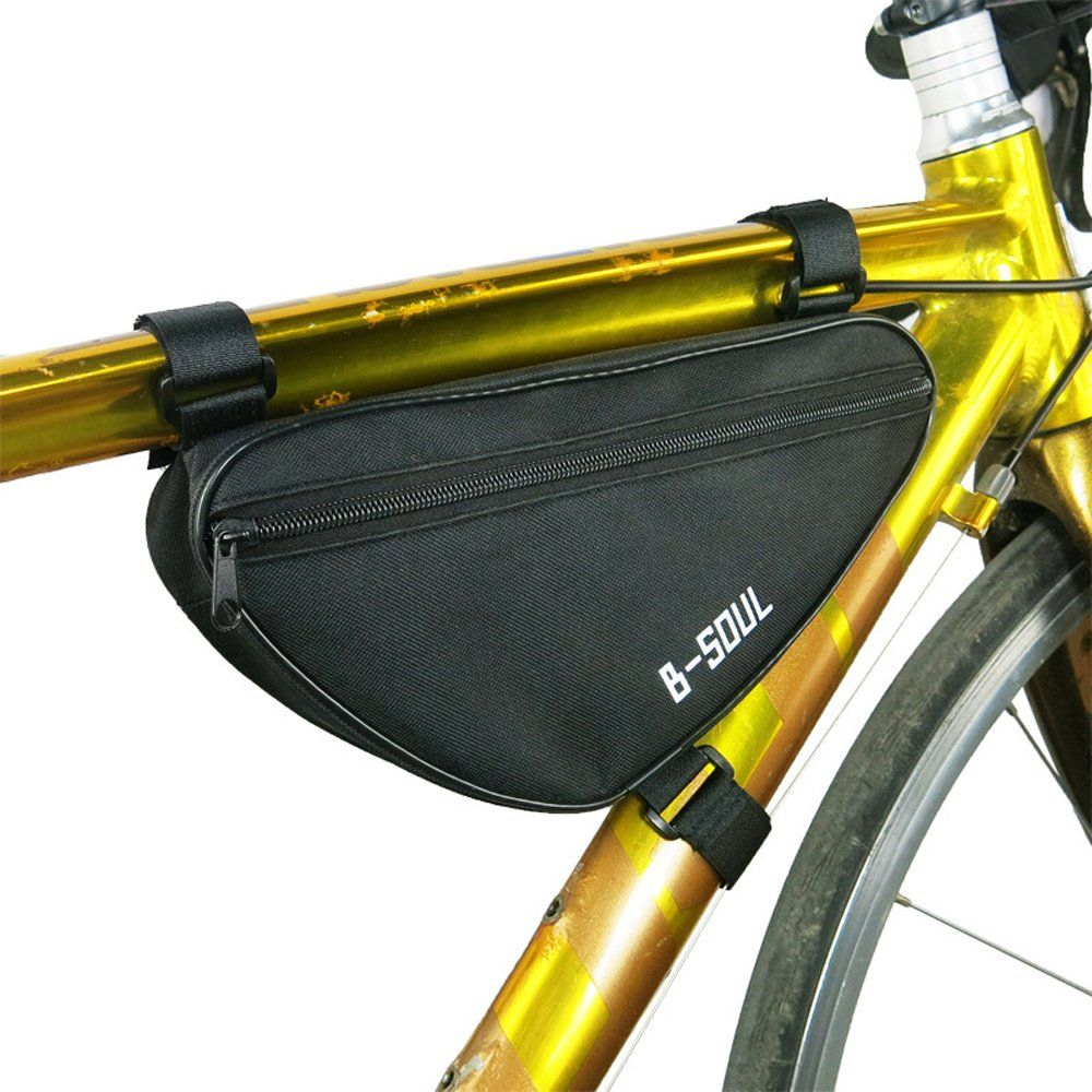 Bike Bag Triangle Waterproof Bicycle Front Tube Frame Pouch Saddle Case Tool Kit