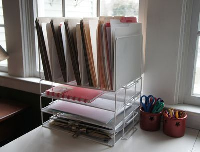 """More tips from Dawn at the lovely blog """"By Sun and Candlelight"""" about her home desk organization.  The kitchen is the Heart of the Home but the homemaker's desk - and organization system - is the pulse!"""