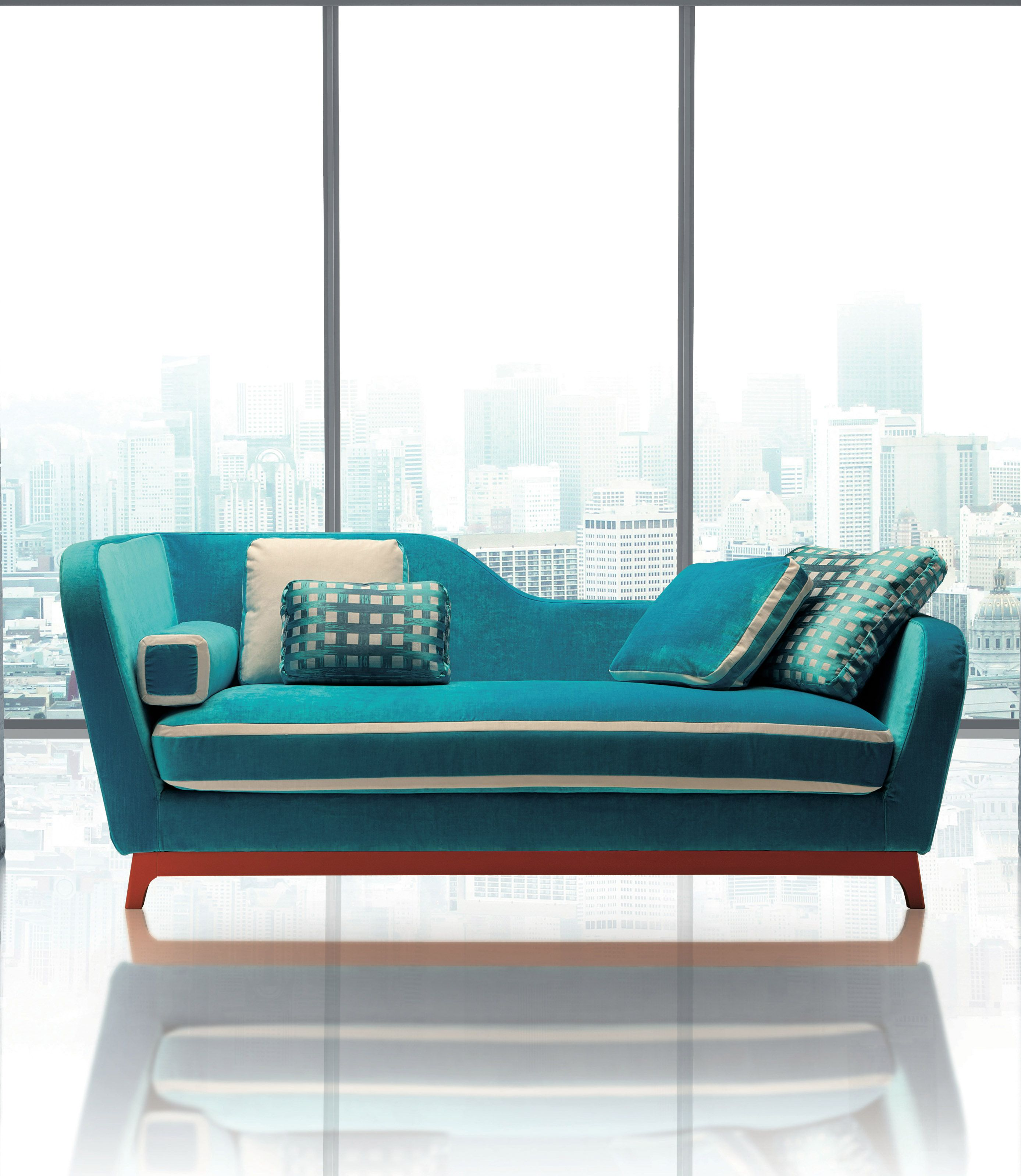 Sofa And Sofabed Jeremie Design Eric Berthes In The Trendy Version With Fabric By Designers