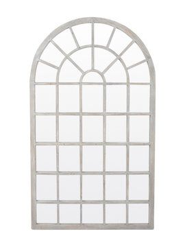 Eaton Window Mirror from Updated Foyer on Gilt