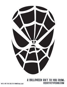pumpkin template spiderman  spiderman pumpkin stencil printable - Google Search ...