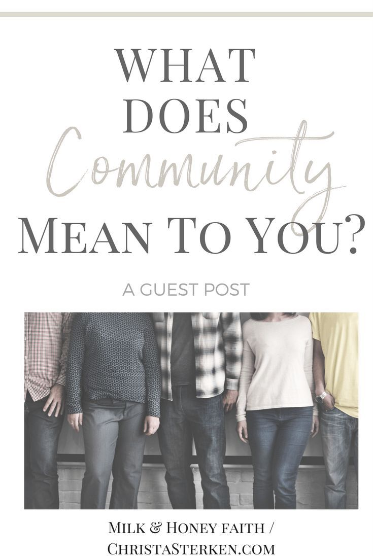 What Does Community Mean To You  Study Gods Word -7104
