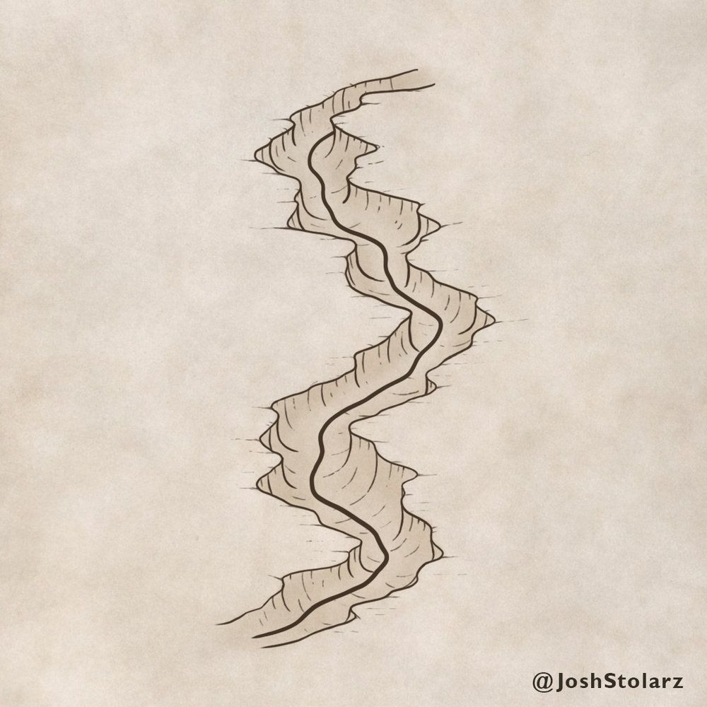How to Draw a Canyon Fantasy map making, Drawings, How