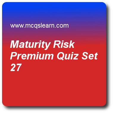 Maturity risk premium